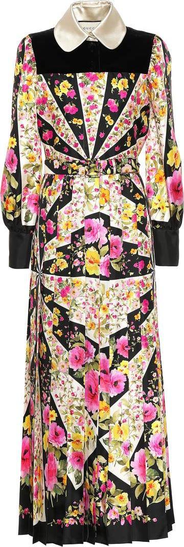 Gucci Floral silk dress