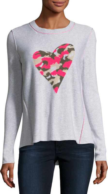 Lisa Todd Swipe Right Camo-Heart Sweater