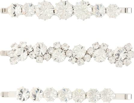 Alessandra Rich Set of 3 crystal hair slides