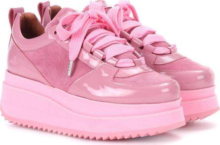 Ganni Edel suede platform sneakers