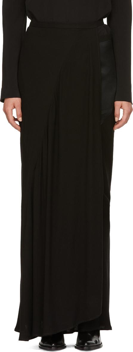 Haider Ackermann Black Panelled Wrap Skirt
