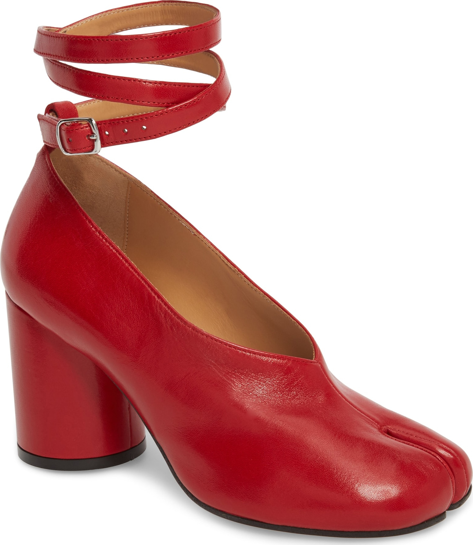 371f9f1cfb9 Maison Margiela Tabi Ankle Strap Pump in Red - Mkt