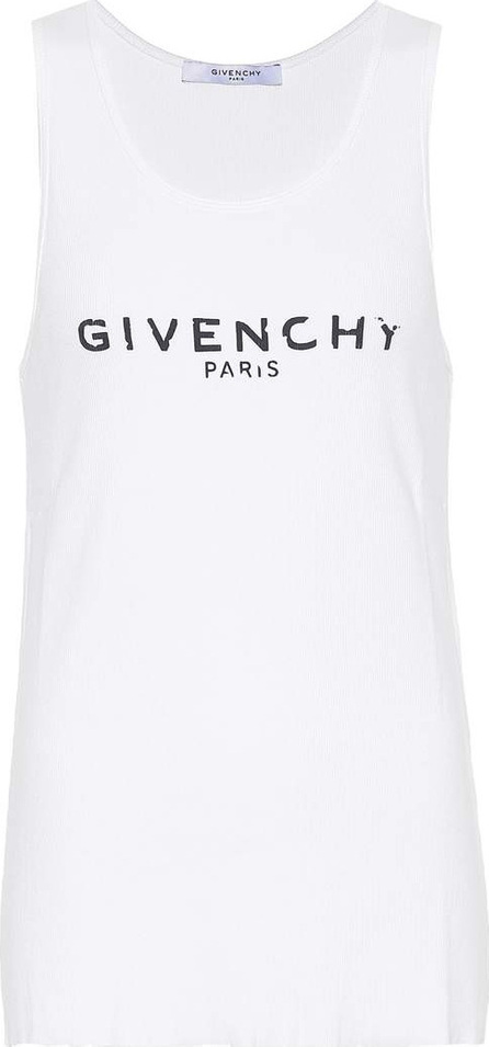 Givenchy Printed stretch-cotton tank top