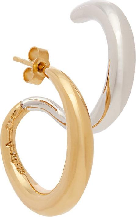 Charlotte Chesnais Curl 18kt gold vermeil & silver single earring