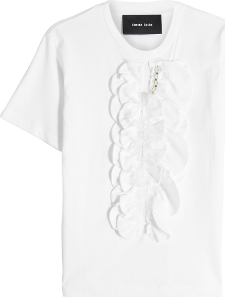 Simone Rocha Embellished Cotton T-Shirt