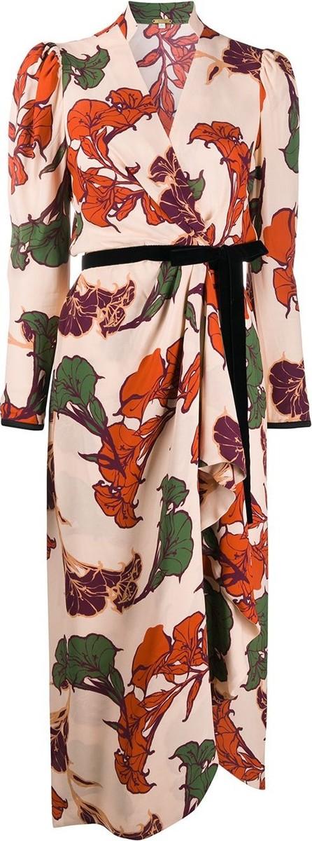 Johanna Ortiz Wrap front floral print dress