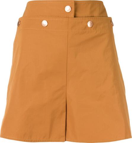 See By Chloé Metallic button bermuda shorts