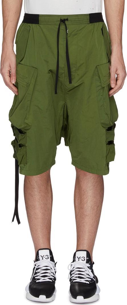 Ben Taverniti Unravel Project Strap drop crotch cargo shorts