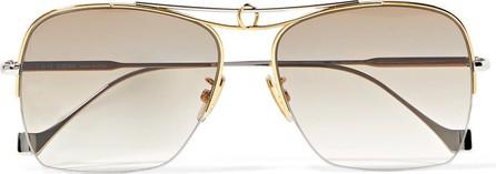 LOEWE Aviator-style silver and gold-tone sunglasses