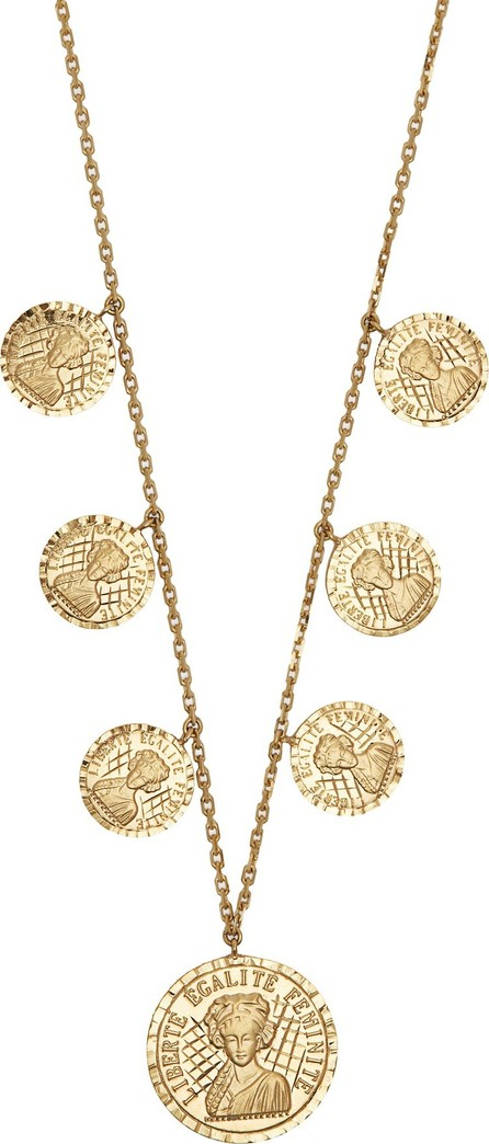Anissa Kermiche Louise D'Or 18kt gold coin necklace