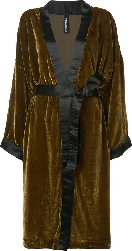 Astrid Andersen velour panel coat