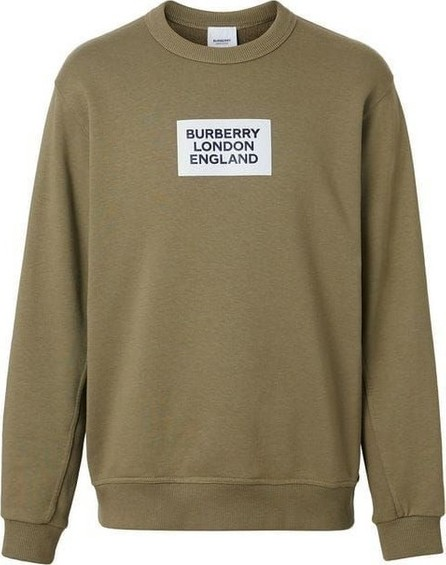 Burberry London England Logo Print Cotton Sweatshirt