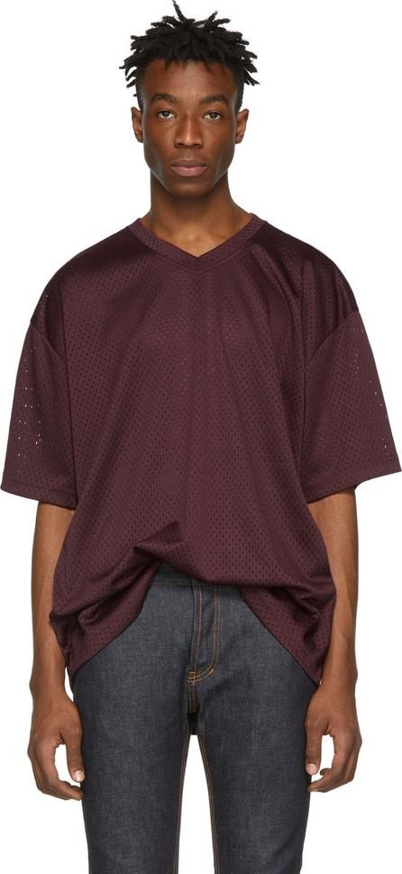 Essentials Burgundy Mesh T-Shirt