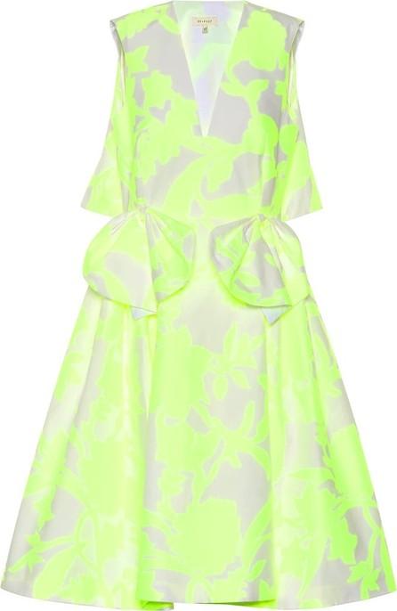 DELPOZO Cotton-blend jacquard dress