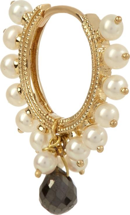 Maria Tash Diamond, pearl & yellow-gold earring