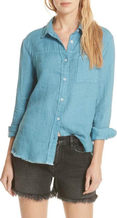 FRAME DENIM Soft Pocket Linen Shirt