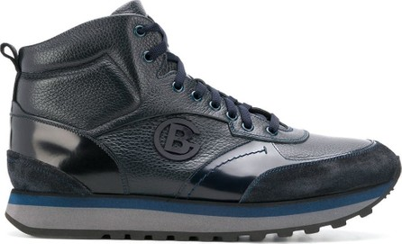 Baldinini Logo plaque hi-top sneakers