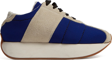 Marni Mesh and suede low-top trainers