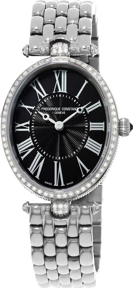 Frederique Constant Ladies' Classics Art Deco Stainless Diamond Watch, Black