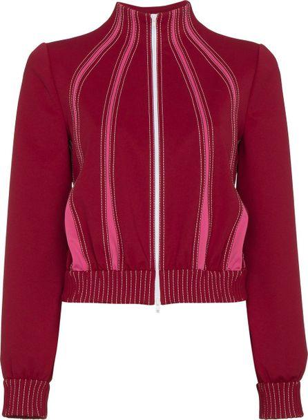 Valentino Techno contrast stitched track jacket