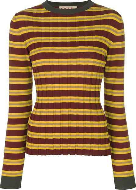 Marni ribbed knitted top