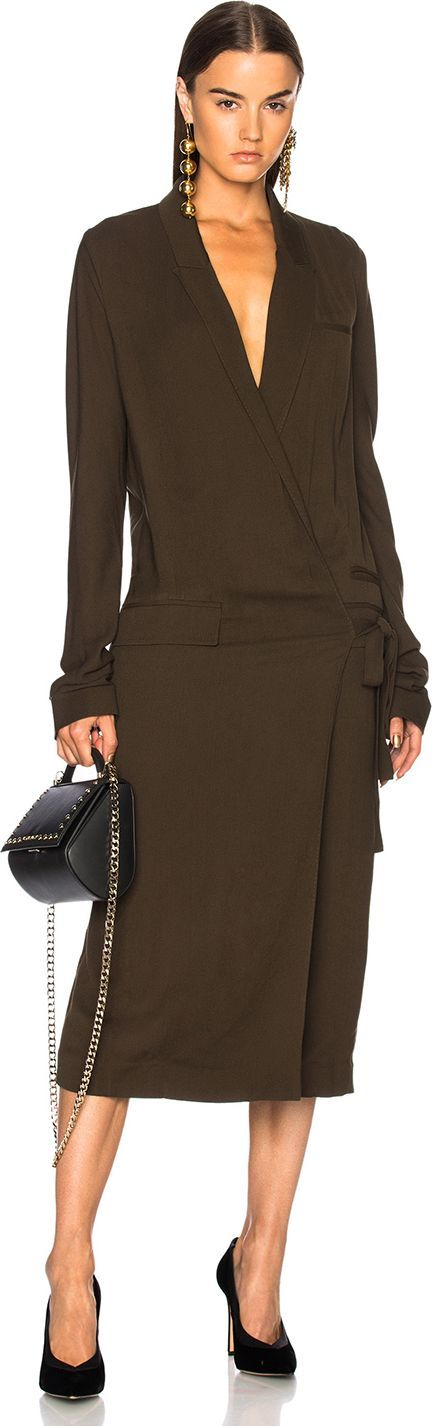 Haider Ackermann Wrap Coat Dress