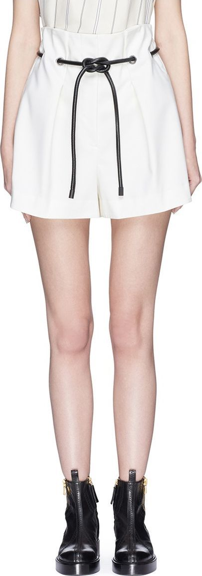 3.1 Phillip Lim 'Origami' drawstring waist pleated wool paperbag shorts