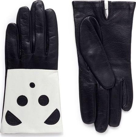 Aristide Panda face lambskin leather gloves