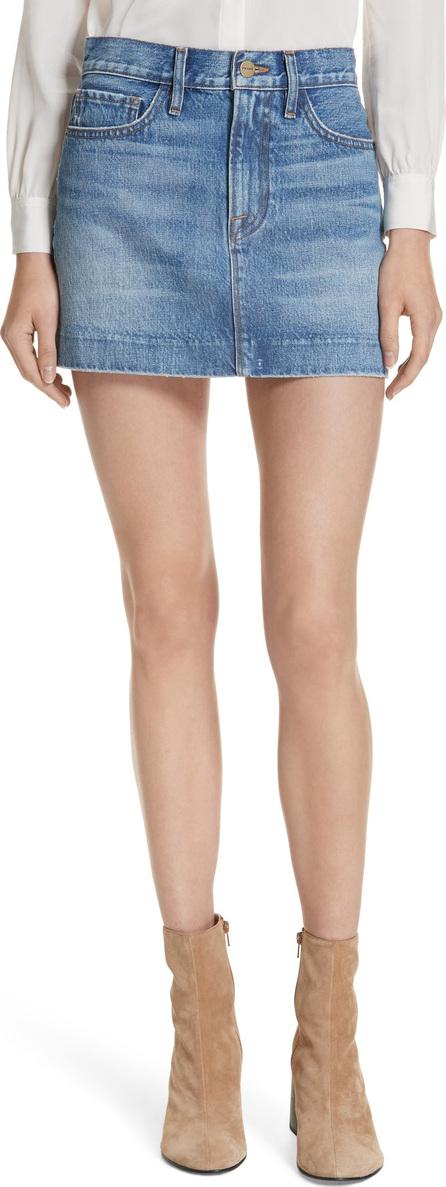 FRAME DENIM Le Mini Blind Stitch Denim Skirt