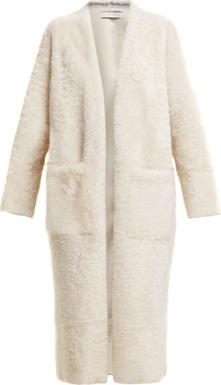 Inès & Maréchal Elvis zip-embellished shearling coat