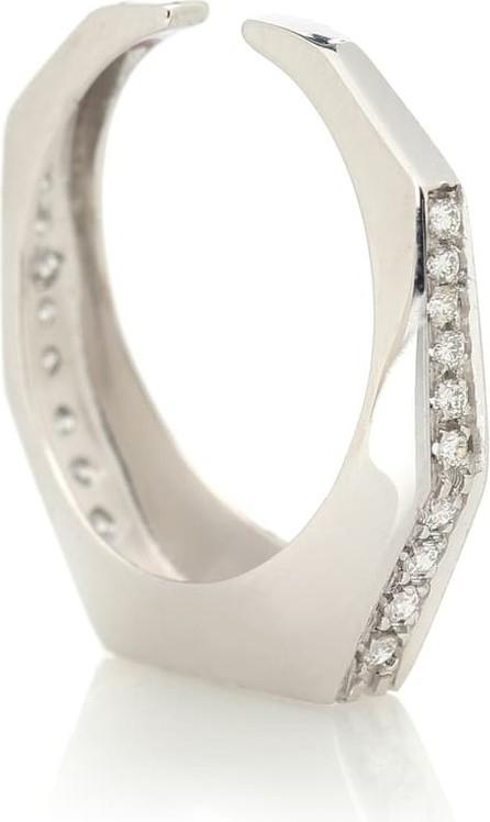 Eera Sabrina 18kt white gold ear cuff with diamonds