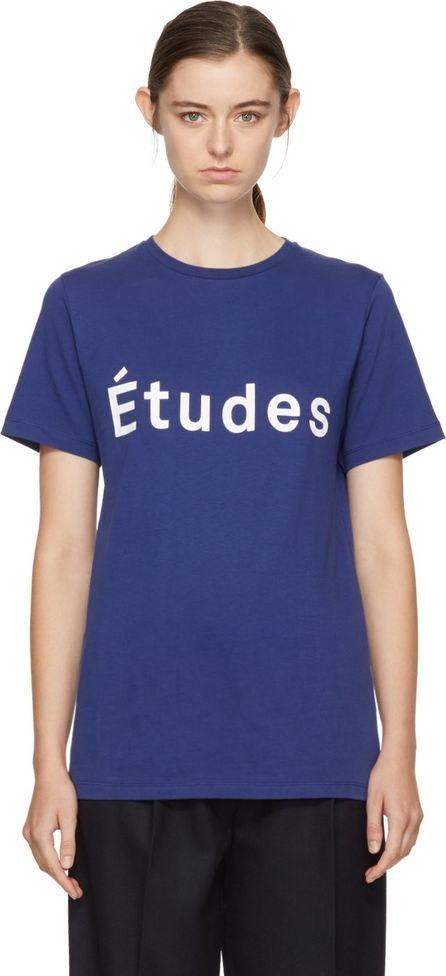 Etudes Blue Page Logo T-Shirt
