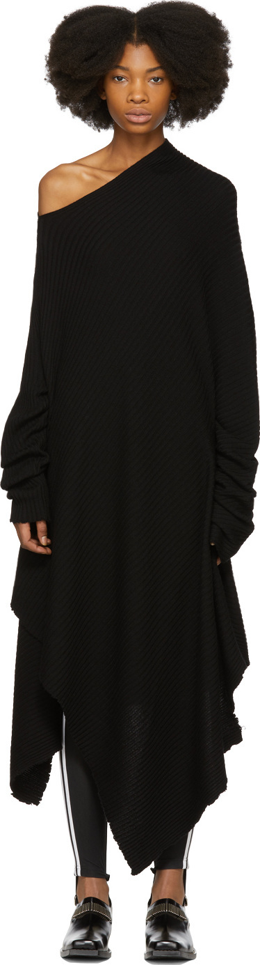 Marques'Almeida Black Short Draped Dress