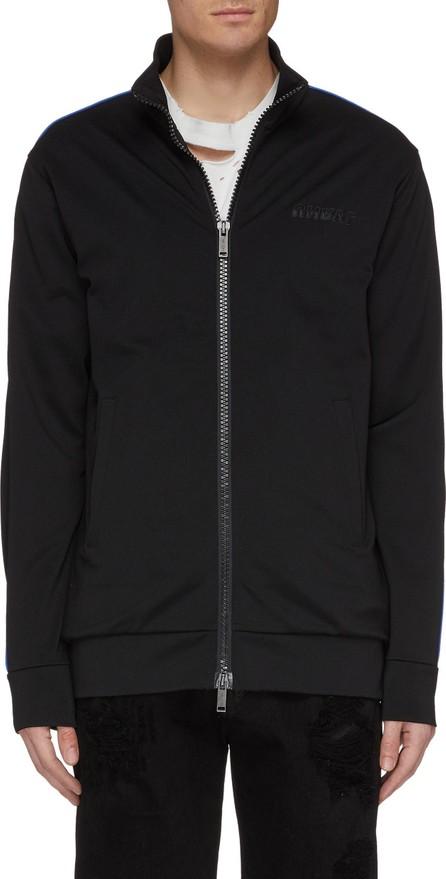 Ben Taverniti Unravel Project 'Motion' logo print contrast piping track jacket