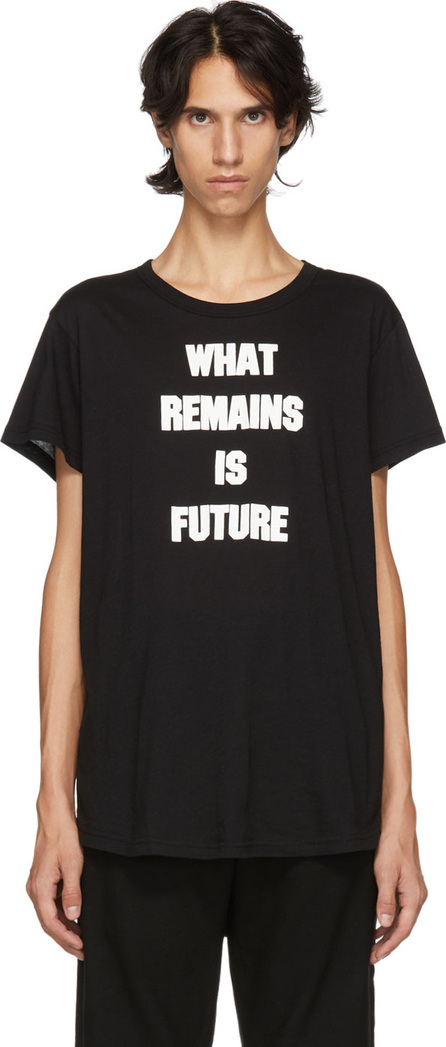 Ann Demeulemeester Black 'What Remains Is Future' T-Shirt