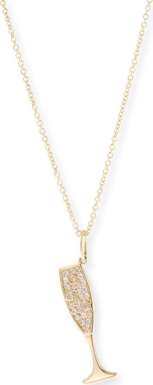 Sydney Evan 14k Champagne Pendant Necklace w/ Diamonds