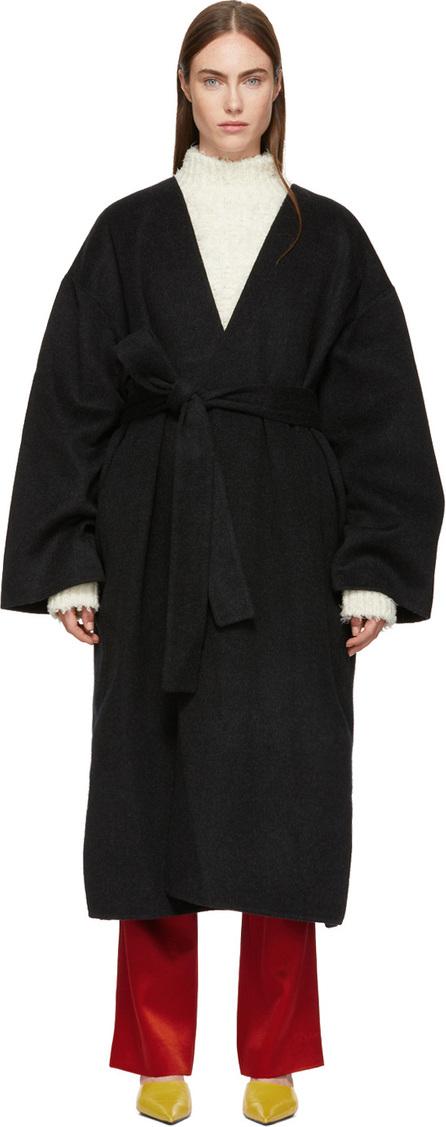 Acne Studios Black Poncho Coat