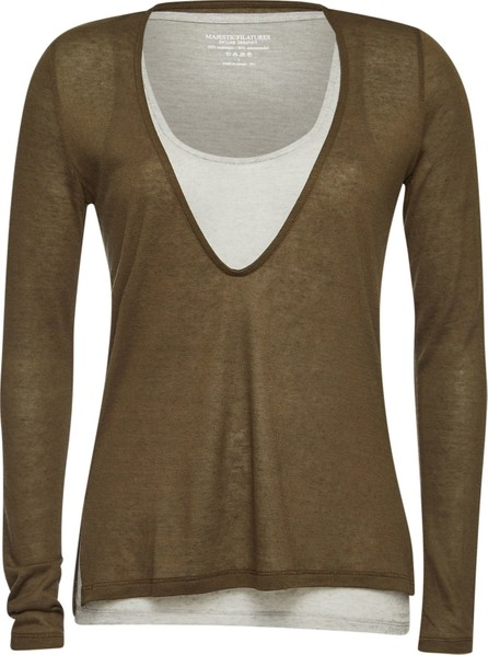 Majestic Layered Top with Cashmere