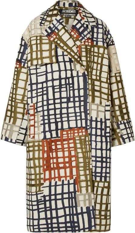 Jacquemus Le Manteau Carreaux jacquard double-breasted coat