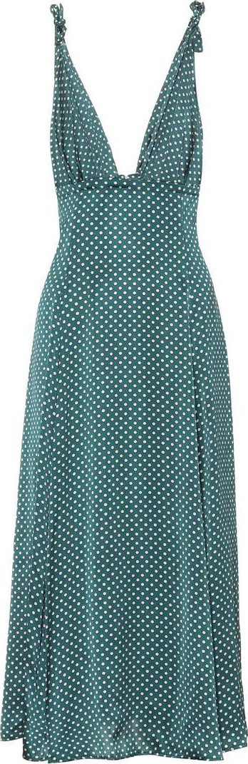 Alexachung Polka-dotted satin dress