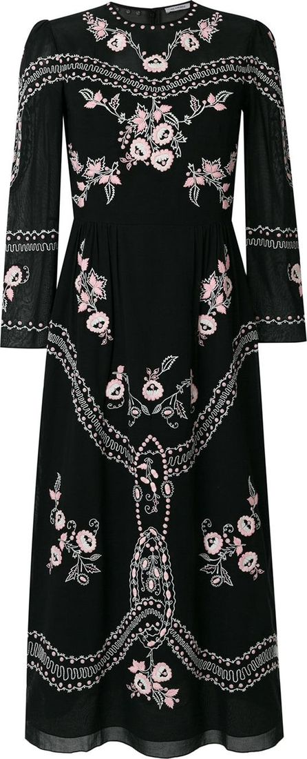 Vilshenko Floral embroidered midi dress