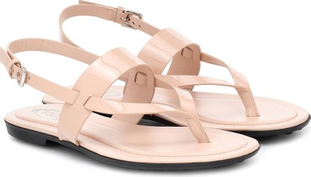 Tod's Patent eather sandals