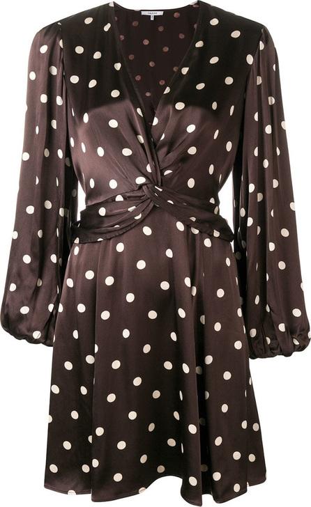 Ganni Polka dotted flared dress