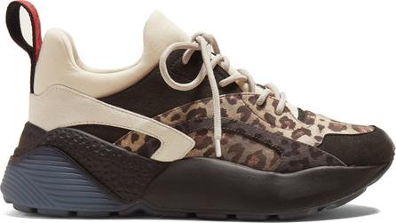 Stella McCartney Eclipse leopard-print low-top trainers