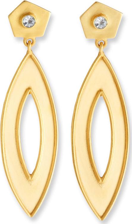 Dina Mackney Geometric Drop Earrings w/ White Topaz xnOFn5QdAF