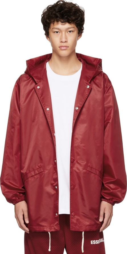 Essentials Red Coaches Jacket
