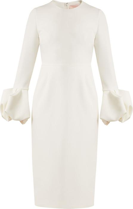 Roksanda Lena puff-sleeved crepe dress