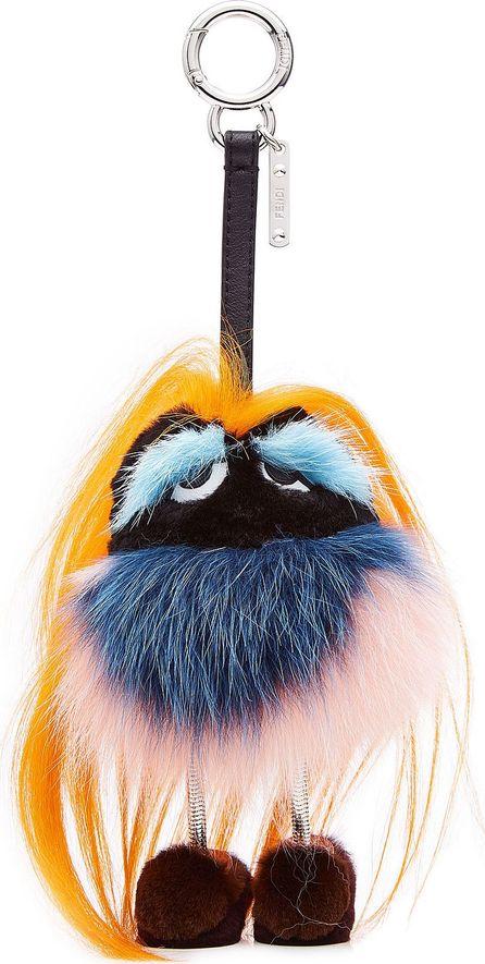 Fendi Bag Bugs Key Charm with Fur