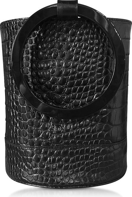 Simon Miller S804 Black Embossed Alligator Calf Leather Bonsai Bucket Bag