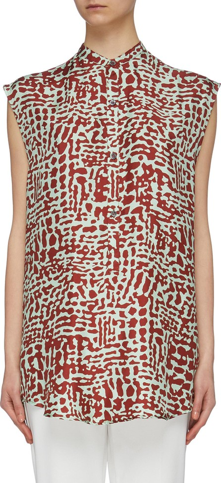Barena 'Miriana' abstract print silk sleeveless blouse
